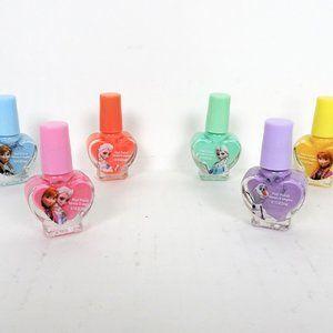Lot 6 Disney Frozen Nail Polishes Girls Non Toxic